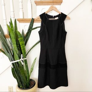 REISS black ribbed sleeveless mini dress zip back